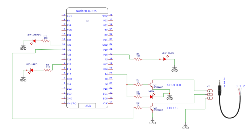 Electronic Schematic Diagram of Shutter Trigger