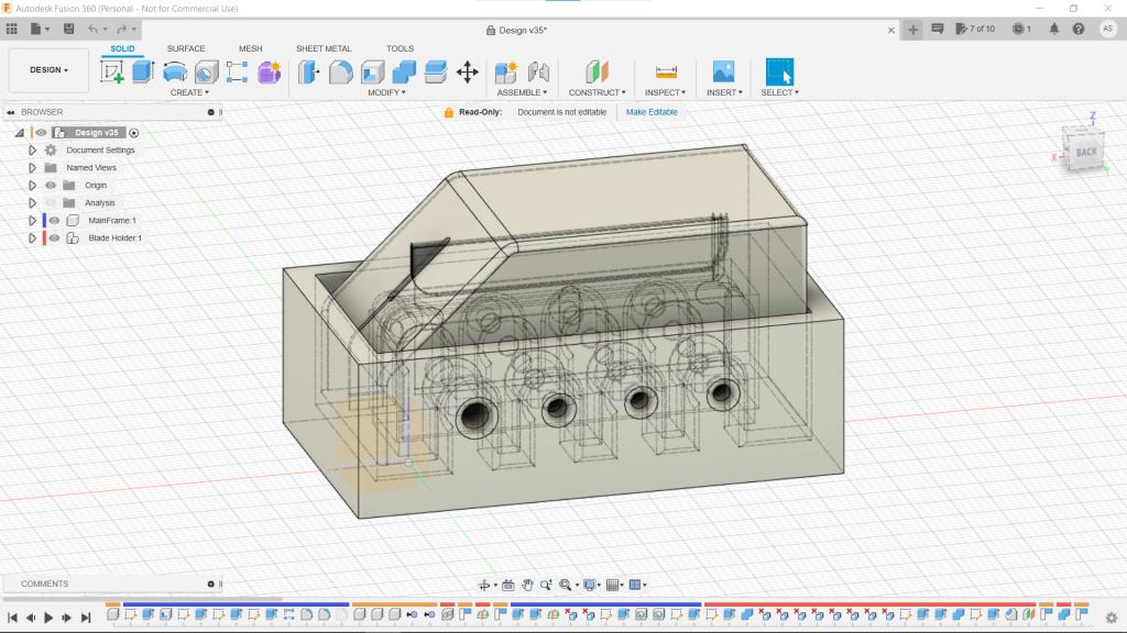 Fusion 360 Design of a Filament Cleaver