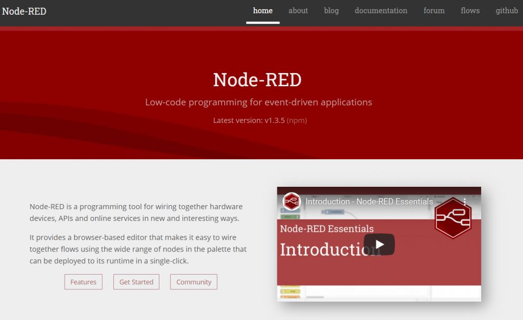 Node-RED Screen Shot
