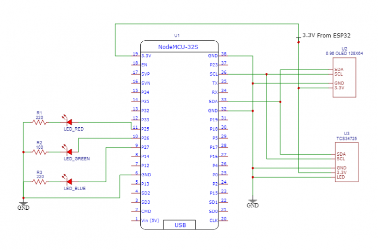 RGB Light Sensor Schematic Diagram